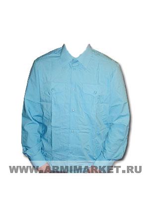 Рубашка бирюзовая (МЧС) с длинным рукавом для офицерского состава р.39-46