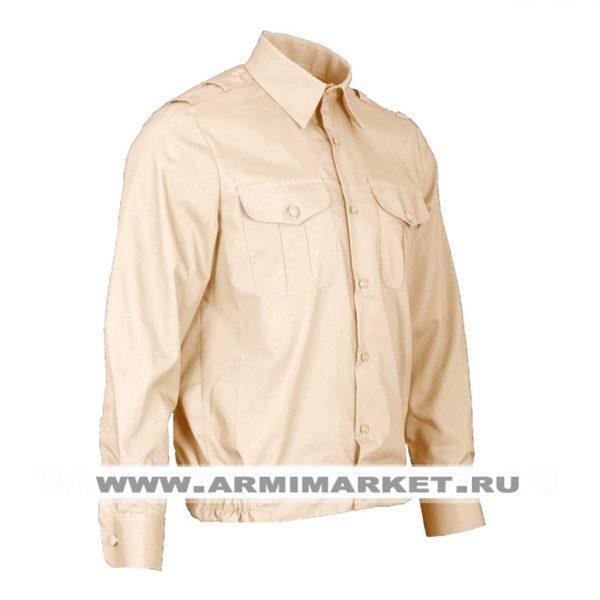 Рубашка кремовая с длинным рукавом для офицерского состава ВМФ р.32-45