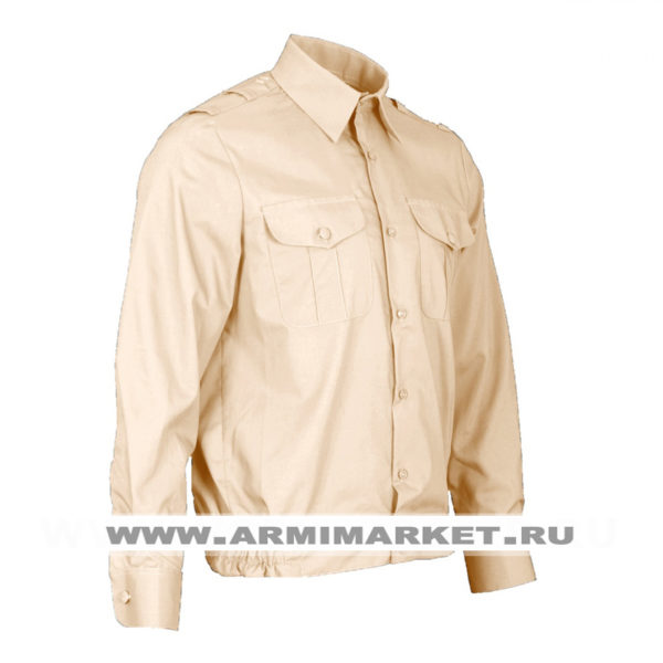 Рубашка кремовая с длинным рукавом для офицерского состава ВМФ р.46-49