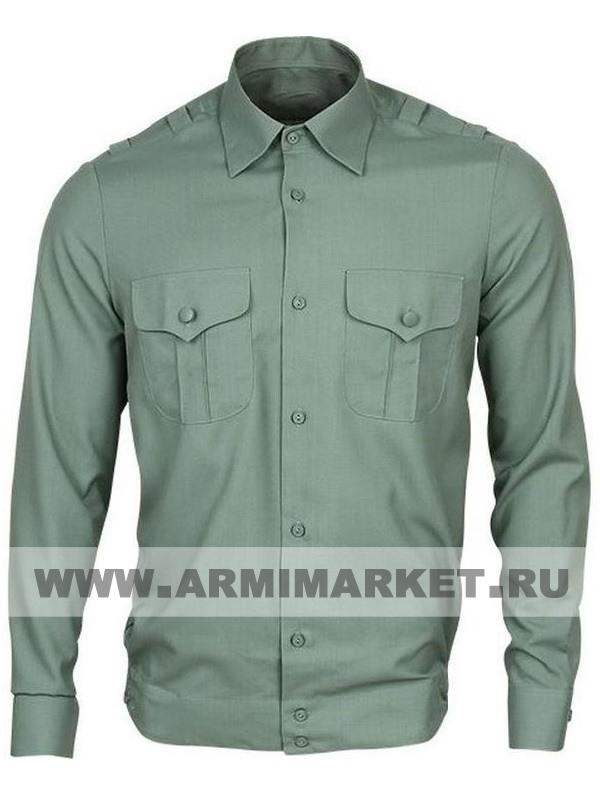 Рубашка оливковая с длинным рукавом для офицерского состава р.46-49