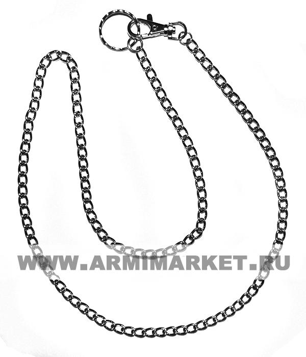 Цепочка для ключей, звенья средние (6-8мм), общ. длинна 90-100 см