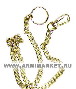 Цепочка для ключей, звенья средние (6-8мм), общ. длинна 70-80 см