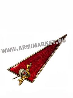 Флаг-уголок малый на берет ВДВ (эмблема на красном фоне)