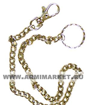 Цепочка для ключей, звенья средние (6-8мм), общ. длинна 30-40 см