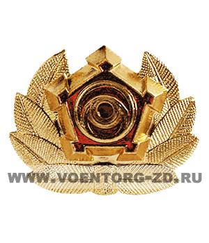 Кокарда вневедомственная охрана МВД с эмблемой (в центре глаз)