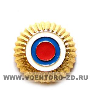 Кокарда Лесника (малая зол.,кругл.,без листьев,с концентрич.кругами)