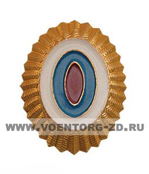 Кокарда МВД малая золотая (с овалами бело-сине-красными)