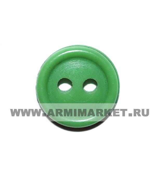 Пуговица 2-х прокол.d11, зеленая (Фед.Таможенная служба),аминопласт.