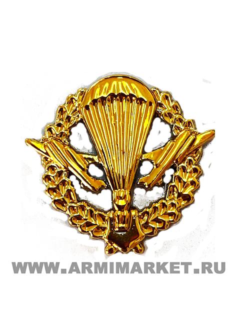 Эмблема ВДВ золотая пластик (старая в венке)