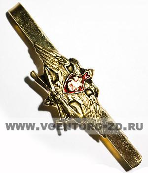 Зажим для галстука ВКС (латунь орёл с пропел.и мечом)