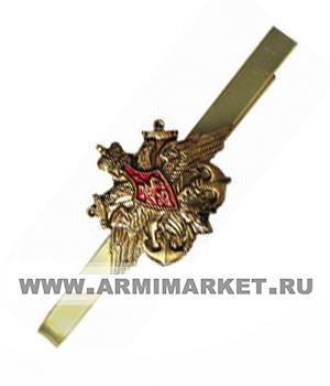 Зажим для галстука ВМФ (латунь большой орёл с якорями)
