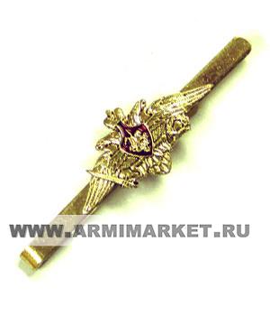 Зажим для галстука с орлом МО (толстая латунь, Георгий на красном фоне)