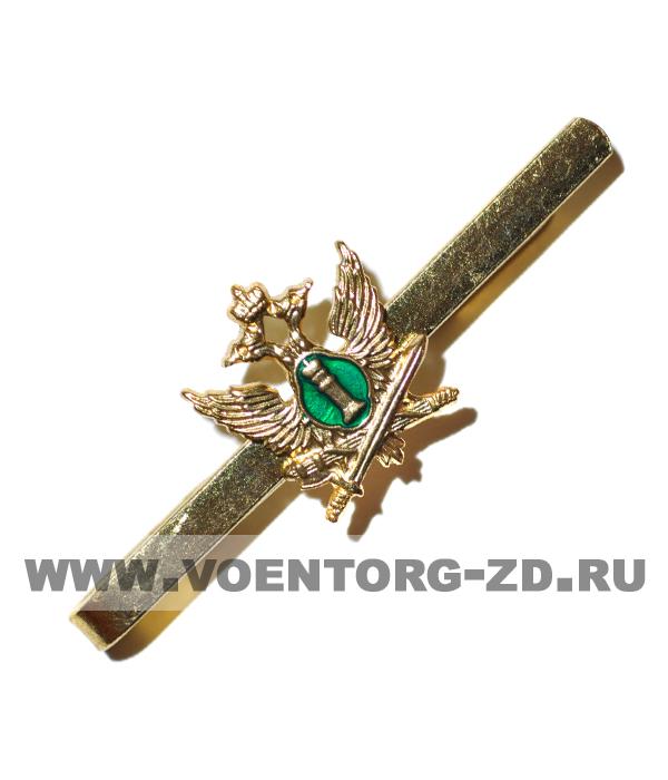 Зажим для галстука Судебных приставов (зеленый фон)
