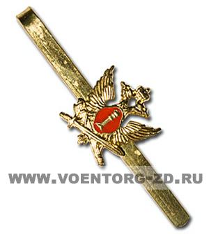Зажим для галстука ФСИН (УИС)(красный фон)