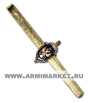 Зажим для галстука ФСБ РФ (синий фон)