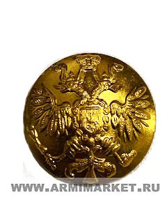 Пуговица большая d22 мм с орлом без ободка царская золотая