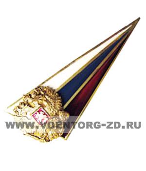 Флаг-уголок малый на берет уголок с круглым орлом латунь