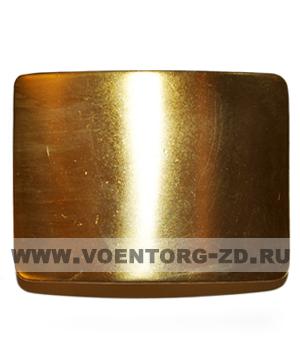 Пряжка чистая золотая (толстая латунь)