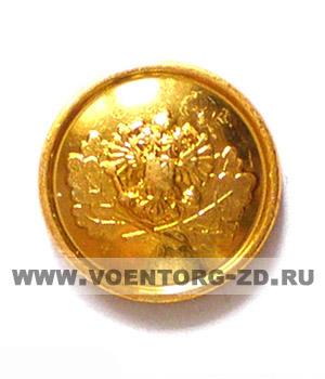 Пуговица Лесника большая d 22мм золотая