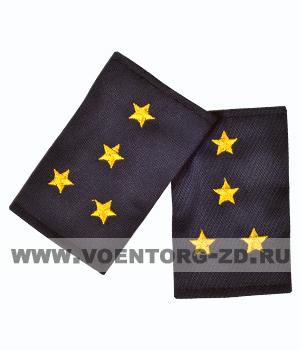 Фальш-погоны темно синие вышивка желтая капитан (Полиция, ДПС)