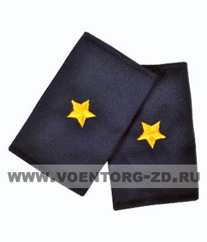 Фальш-погоны темно синие вышивка желтая майор (Полиция, ДПС)