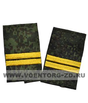 Фальшпогоны кмф цифра вышитые младший сержант (галун желтый)