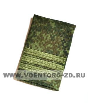 Фальшпогоны кмф цифра вышитые сержант (галун зеленый)