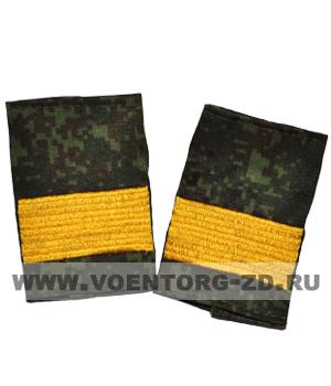 Фальшпогоны кмф цифра вышитые старший сержант (галун желтый)