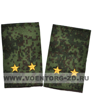 Фальшпогоны кмф цифра вышитые лейтенант (звезды желтые)