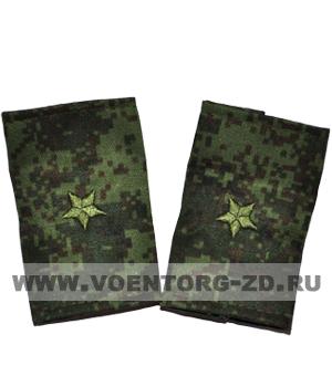 Фальшпогоны кмф цифра вышитые майор (звезды зеленые)