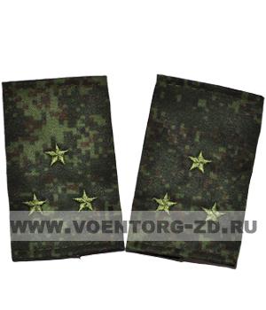 Фальшпогоны кмф цифра вышитые старший лейтенант (зв. зеленые)
