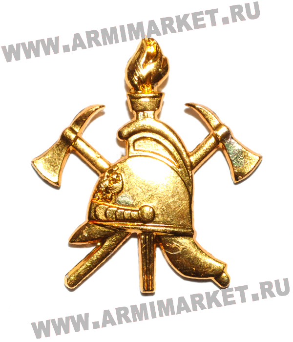 Эмблема ВДПО всероссийское добровольное пожарное общество 25*20 мм золотая