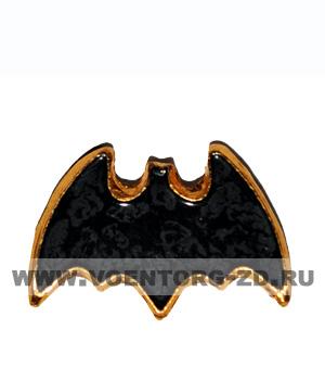 Эмблема Военная разведка черная  (летучая мышь) 20 мм