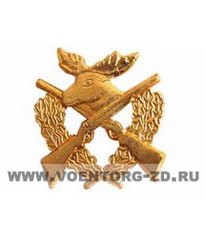 Эмблема Егерь (ружья, лось, венок)