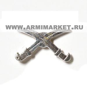 Эмблема Казаков (шашки) серебряная