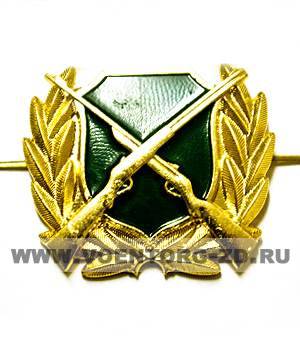 Эмблема Охотнадзор (зеленый щит, ружья)