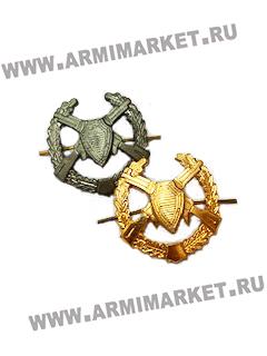 Эмблема Пограничных войск старая защитная и золотая