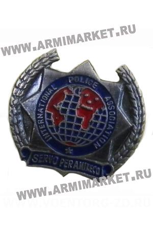 "0414с Значок серебро ""International Police Association …"" (Интерпол)"