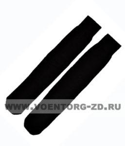 Носки черные удлиненные плюшевого переплетения зимние п/ш (50%шерсть, 50%пан)