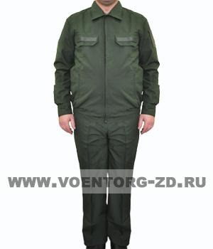 Костюм МО штабной защитного цвета длинный рукав ткань рип-стоп р.44-60