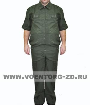 Костюм МО штабной защитного цвета короткий рукав ткань рип-стоп р.44-60