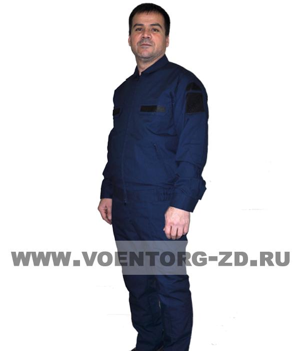 Костюм МО штабной синего цвета длинный рукав ткань рип-стоп р.44-62