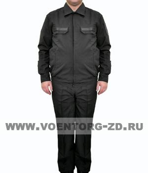 Костюм МО штабной черного цвета длинный рукав ткань рип-стоп р.44-56
