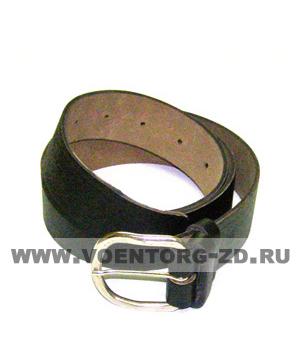 Ремень поясной кожаный мужской (чёрный узкий шир.35 мм) р.1-5