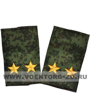 Фальшпогоны кмф цифра вышитые подполковник (звезды желтые)