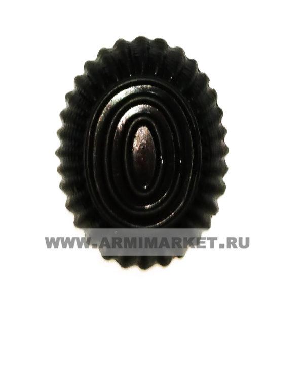 Кокарда ФСИН малая овал черная пластик