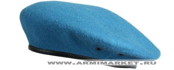 Берет голубой бесшовный, Ш 100% ГОСТ р.53-62