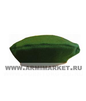 Берет зеленый р.53-60 (с)