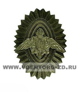 Кокарда ПВ пограничная офицерского состава полевая (ребристая)