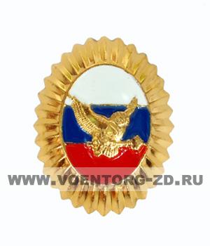 Кокарда ФГУП охрана МВД России (сова, ключ в лапах)